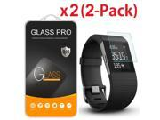 2-Pack Tempered Glass Screen Protector Guard for Fitbit Surge Smart Watch