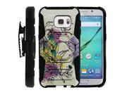For Samsung Galaxy S7 Heavy Duty Hard Case + Belt Clip - Hummingbird Flowers