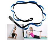 10 Fixed Loops Exercise Yoga Stretching Strap with Handle for Athletes Dancer