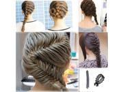 Women Lady French Hair Braiding Tool Braider Roller Hook With Magic Hair Twist Styling Bun Maker Hair Band Accessories 9SIAEF87SD5084