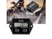 LCD Digital Tachometer Tach/Hour Meter Gauge RPM Tester for 2/4 Stroke Gas Engine Motorcycle 9SIAHNE82M9279