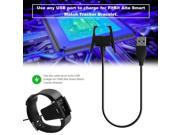 Black USB Charger Cable Replacement USB Charger Suitable For Fitbit Charge 2