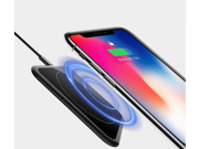 Fast 10W Wireless Charger, Qi10 Fast Charge Qi Charging Pad for Phone Xs Max/XR/XS/8/Plus, iPhone X, 10W Fast-Charging Samsung Galaxy S9/S8/S7/ Adapter Black