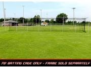 Cimarron Sports 70' x 12' x 12' Twisted Knotted Twine Poly Batting Cage Net with 4 x 6 Vinyl Backstop 9SIV00374H6116