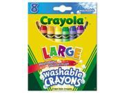 Ultra-Clean Washable Crayons Large 8 Colors/Box 9SIV00Y2W03958