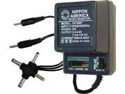NEW NIPPON DV3467 AC/DC 300mA POWER ADAPTER 6 WAY UNIVERSAL PLUG 9SIV0W85375642