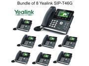 Yealink SIP-T46G Bundle of 8 IP phone Dual Gigabit 16 Line PoE 4.3 Color LCD USB