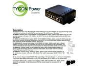Tycon Power TP-SSW5-NC 12-56V 5 Port High Power POE 10/100BASET switch.