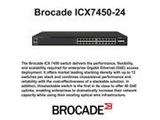 Brocade ICX7450-24 Switch