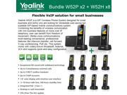 Yealink W52P X2 W52H X8 Cordless VoIP Phone PoE HD Voice and Base Unit