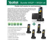 Yealink W52P W52H X4 Cordless VoIP Phone PoE HD Voice and Base Unit