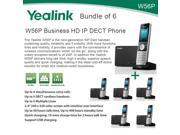 Yealink W56P Bundle of 6 Business HD IP DECT Phone and Base Unit PoE Voicemail
