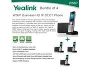 Yealink W56P Bundle of 4 Business HD IP DECT Phone and Base Unit PoE Voicemail