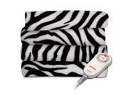 JARDEN TSF8TS R901 33A00 Fleece Heated Throw Zebra TSF8TS R901 33A00