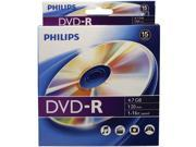PHILIPS DM4S6B10B/17 4.7GB 16x DVD-Rs, 10-ct Peggable Box