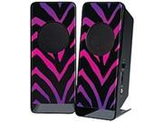 Merkury Innovations MB-SPW5ZM Amplified Stereo Speaker - 60-18000 Hz - 70 dB - Ombre Zebra