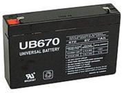 Universal Power Group 85932 UB670 Sealed Lead Acid 7 Ah UPS Battery