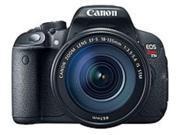 Canon EOS Rebel 8595B005 T5i 18.0 Megapixels Digital Camera with EF-S 18-135 mm, f/3.5-5.6 IS STM Lens - 7.5x Optical Zoom - 3.0-inch LCD Display - Hi-Speed USB - Black