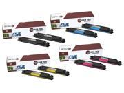 Laser Tek Services® HP 126A (CE310A, CE311A, CE312A, CE313A) 8 Pack High Yield Compatible Replacement Toner Cartridges