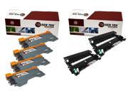 Laser Tek Services ® 4 Pack Compatible Cartridge for Brother TN450 & 2 Pack Compatible DR420 - 6PK total