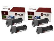 Laser Tek Services® 4 Pack Xerox 106R01455 Black High Yield Replacement Toner Cartridges for the Xerox Phaser 6128
