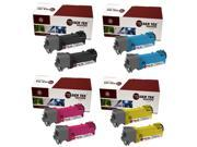 Laser Tek Services® 8PK Xerox Phaser 6128 Replacement Toner Cartridges (106R01455, 106R01452, 106R01453, 106R01454)