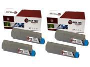 Laser Tek Services® 4 Pack Okidata 43324404 (Type C8) Black High Yield Replacement Toner Cartridges for the Oki C5500