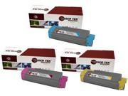 Laser Tek Services® 3 Pack Oki C610 Replacement Toner Cartridges (44315303, 44315302, 44315301)