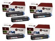 Laser Tek Services® 5PK Oki C3200 (Type C6) Replacement Toner Cartridges (43034804, 43034803, 43034802, 43034801)