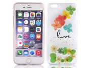 Silicone Floral Design Phone Case Soft Shell Multicolor for iphone 6 Plus 9SIV06N79J4211