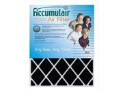 Accumulair FO22.25X25X2A Carbon Odor Block 2 In. Filter,  Pack Of 2 9SIV06W2G44142