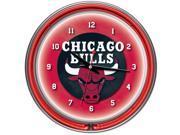 Chicago Bulls NBA Chrome Double Ring Neon Clock 9SIV06W2G86068