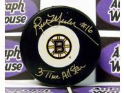 Autograph Warehouse 51155 Rick Middleton Autographed Hockey Puck Boston Bruins Inscribed 3X All Star 9SIV06W2J12441