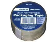 Lepages Inc 1.88in. x 54.7 Yds Gould QuikStik Clear Polypropylene PackagingTape