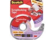 Scotch 2002 .5 in. x 300 in. Double-Stick Removable Tape Roll
