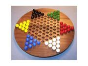 THE PUZZLE-MAN TOYS W-1926 Wooden Marble Game Board - Chinese Checkers  Oiled 18 in. Circle - Black Walnut 9SIV06W6540753