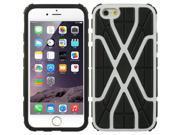 DreamWireless TCAIP6SWBKWT Apple iPhone 6 Hybrid Case Black TPU Plus Spider Web PC - White, 4.7 in. 9SIV06W6543168