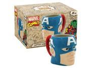 Icup 10494 Marvel Comics Captain America Molded Head Boxed Ceramic Mug 9SIV06W65D7044