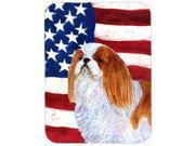 Carolines Treasures SS4034LCB USA American Flag With English Toy Spaiel USA Glass Cutting Board - Large 9SIV06W65G1658