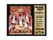 Encore Select 522-BSKMIA2012champs 2012 World Champions Miami Heat 12 x 15 Stat Plaque 9SIV06W6790300