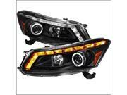 Spec-D Tuning 2LHP-ACD084JM-TM Projector Headlight for 08 to Up Honda Accord, Black - 14 x 19 x 31 in. 9SIV06W67G1238