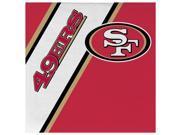 Duck House 9413106125 San Francisco 49ers Disposable Napkins 9SIV06W67D0918