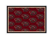 Milliken 4000019628 5 ft. 4 in. x 7 ft. 8 in. MLB Team Repeat Tampa Bay Rays Baseball Area Rug - Rectangle, Blue 9SIV06W67K2955