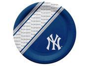 New York Yankees Disposable Paper Plates 9SIV06W67K1645