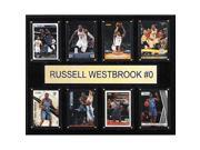 CandICollectables 1215WESTBR8C NBA 12 x 15 in. Russell Westbrook Oklahoma City Thunder 8-Card Plaque 9SIV06W67U1261