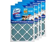 Lysol Air Filter Triple Protection 25 x 25 x 1 in. -  Pack of 4 9SIV06W6797362