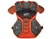 Rawlings RWCPVELBO Velo Adult Chest Protector, Black & Orange 9SIV06W6808842