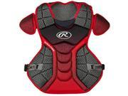 Rawlings RWCPVELBS Velo Adult Chest Protector, Black & Scarlet 9SIV06W6808754