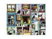 White Mountain Puzzles WHITE986 Window Cats 1000 piece Puzzle 9SIV06W6890920