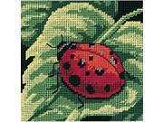 Dimensions 7170 Ladybug, Ladybug... Mini Needlepoint Kit-5''X5'' Stitched In Thread 9SIV06W6835411